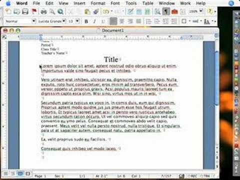 MS Word Academic Formatting 1