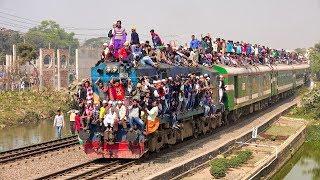Overloaded Sirajganj Express Train of Bangladesh Railway at the day of Bishwa Ijtema