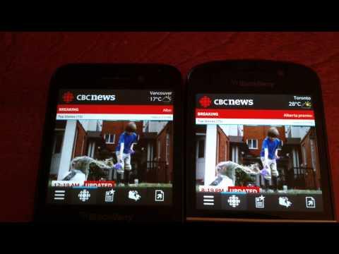 Blackberry Q5 vs Q10 app launch speed comparison