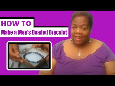 How to Make a Mens Beaded Bracelet