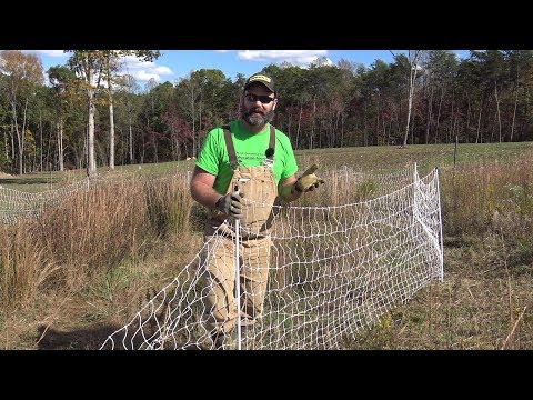 Electric Poultry Netting Explained..How does it work? Is it worth the $$$...Will it hold the Goats?