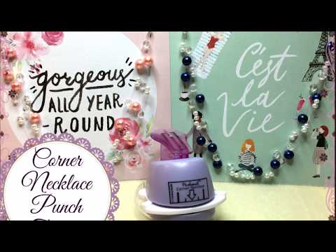 Jewelry Packaging Tutorial: Corner Necklace Punch Easy Earring Cards Craft Product Review