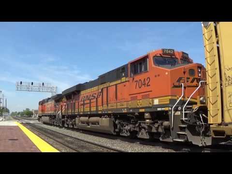 Amtrak,  BNSF Freight & Metra At Berwyn