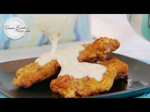 Chicken Fried Steak with White Gravy Recipe | BEST Beef Schnitzel Recipe