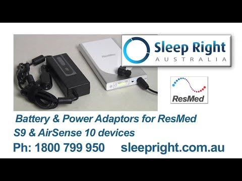 ResMed Power Station II CPAP lithium battery & 12V converter for ResMed S9 and AirSense 10