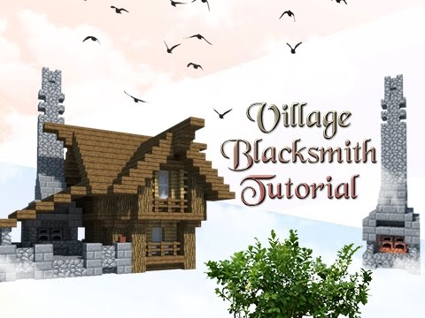 Minecraft Tutorial: How To Build A Village Blacksmith!