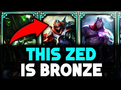 Do They Deserve it? Placing a Bronze Zed in a Platinum Solo Q Game (League of Legends)