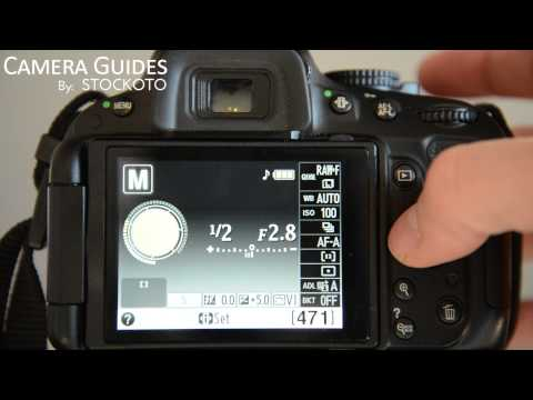 How to set Auto Focus AF Modes on a Nikon D5100 , D5200, D5300
