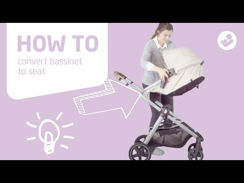 Maxi-Cosi | Zelia stroller | How to convert bassinet to seat