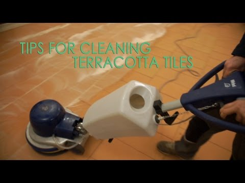 How to clean terracotta floor tile