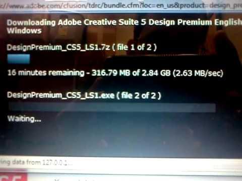 Downloading Adobe CS5 Design Premium