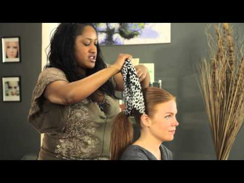 How to Tie a Ponytail Scarf : Updos & More