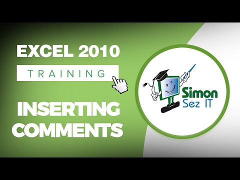 How to Insert Comments in Excel 2010 Spreadsheets