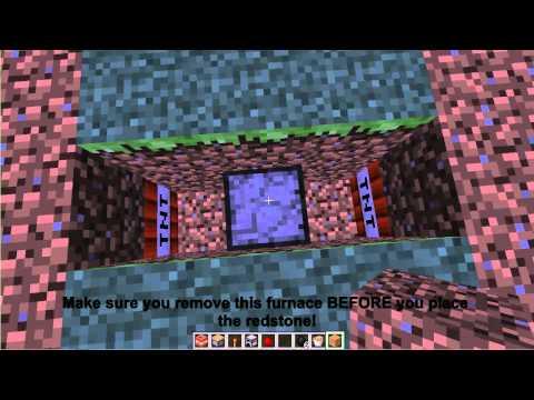 Minecraft Traps #11 - Furnace Bomb