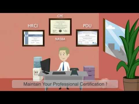 Online Courses for Recertification Credits PDU NASBA CPE HRCI