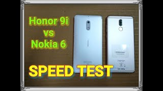 Honor 9i vs Nokia 6 - Speed Test and Comparison