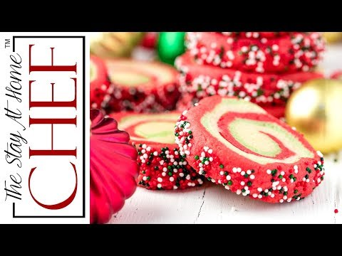 How to Make Spiral Christmas Sugar Cookies | The Stay At Home Chef