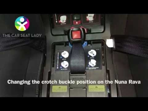 NUNA Rava: How to change the crotch buckle position - The Car Seat Lady