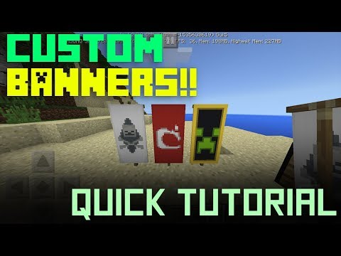 How to make custom BANNERS in Minecraft 1.2 (MCPE)