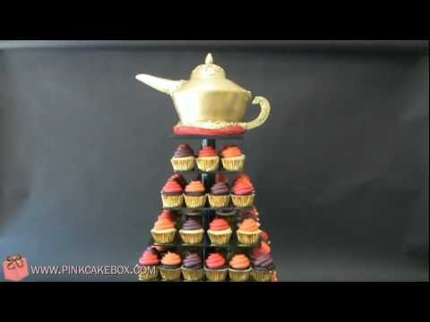 Arabian Nights Sweet 16  Cupcake Tower