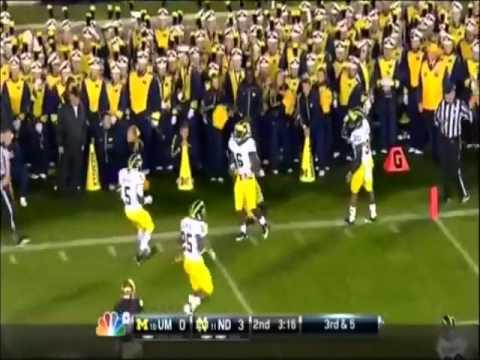 Notre Dame vs Michigan 2012 Highlights