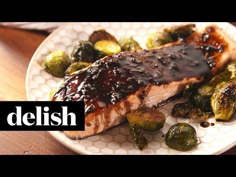 Balsamic Glazed Salmon | Delish