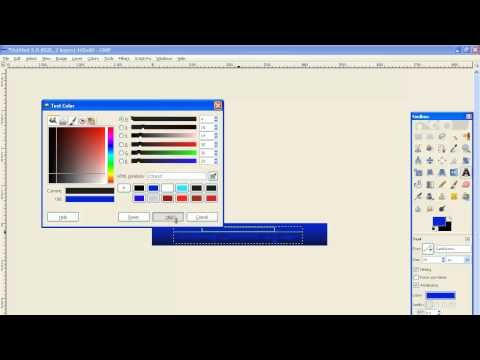 How To Make A Basic Web Banner Using Gimp - How To Make Graphics With Gimp