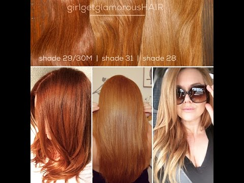 Our Red + Strawberry Blonde Shades   girlgetglamorousHAIR Clip In Hair Extensions