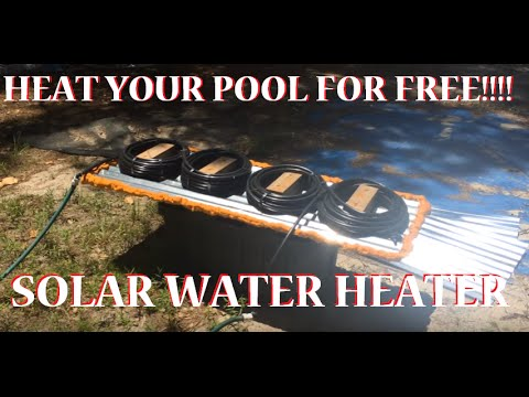 Solar Powered Pool Water Heater For Under 80 Bux!!