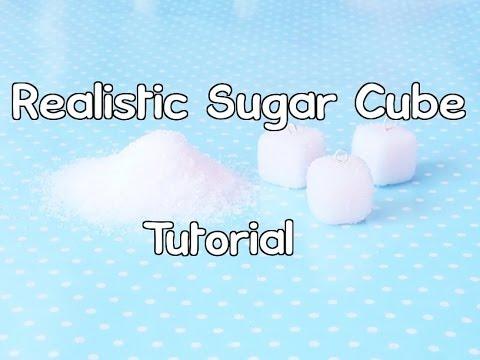 ♥Realistic Polymer Clay Sugar Cube Tutorial♥