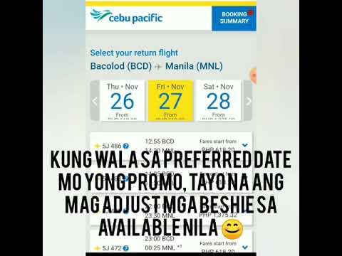 How to book Piso Fare/Seat Sale/Promo Fare to Cebu Pacific / 12.12 Holiday Promo