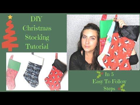 DIY Christmas Stocking Tutorial In 5 Easy Steps | DIY Christmas Gifts