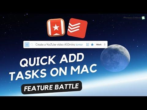 Quick Add on Mac: Todoist v Wunderlist