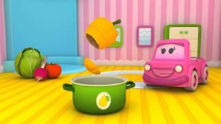 Schlaue Autos! -Episode 2- Frisches Gemüse und Memory. Lernanimation für Kinder