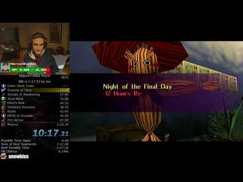 The Legend of Zelda: Majora's Mask Any% Speedrun (New Route 1:18:42)