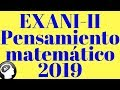 Guía EXANI-II 2019, Pensamiento matemático