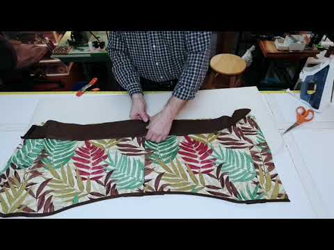 How to sew a separate pocket to a window valance