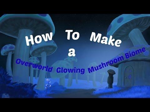 How to create a Overworld Glowing Mushroom Biome Terraria 1.2