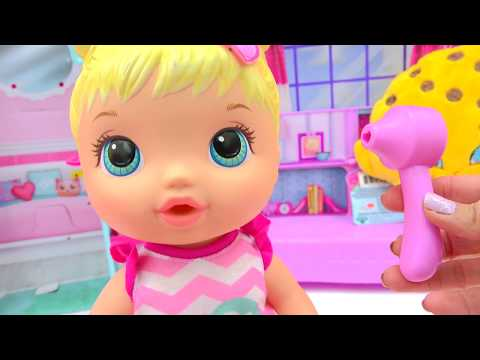 Play Doctor with Baby Alive Better Now Bailey Who Drinks & Wets Diaper - Cookieswirlc Video