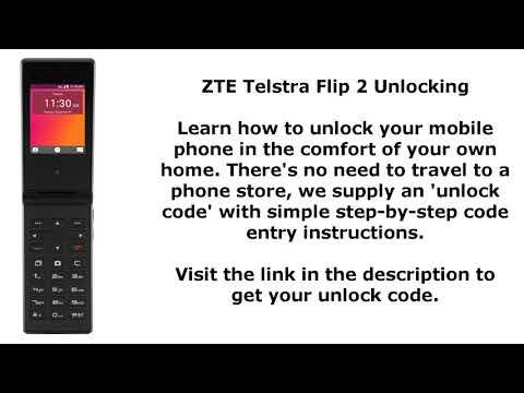 Unlock ZTE Telstra Flip 2 By Unlock Code