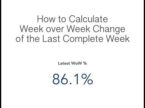 How to Calculate Week over Week Change of the Last Complete Week