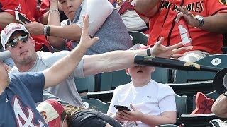 Dad of 8-Year-Old Saves Him from Flying Baseball Bat: