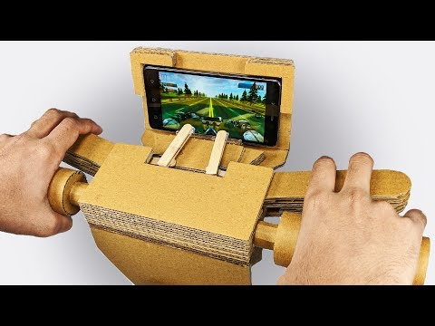 How to make GAMING Steering for Motorcycle Game from Cardboard DIY