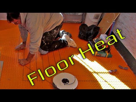 Steam Shower Part 7 Ditra Heat, electric floor heat  how to install it start to finish