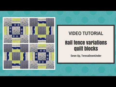 Rail fence variations quilt blocks tutorial