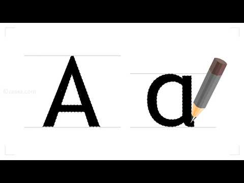 how to write the english letter A?
