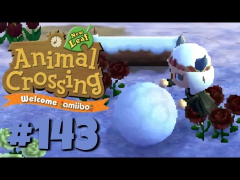 Let's Play Animal Crossing: New Leaf - Welcome amiibo :: #143 :: Gosh Darn Snowball (1080p gameplay)