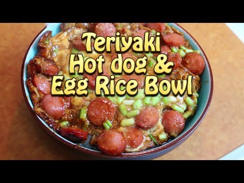 Teriyaki Hot Dogs and Eggs Rice Bowl Cooking Vlogs 42