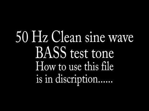 50Hz Bass Test Tone (clean sine wave)