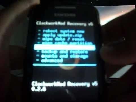 Como instalar o clockworkmod no galaxy mini